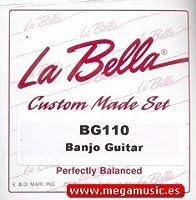 CUERDAS BANJO - La Bella (BG/110) (Juego Completo 6 Cuerdas) 010/012/021W/030W/041W/051W