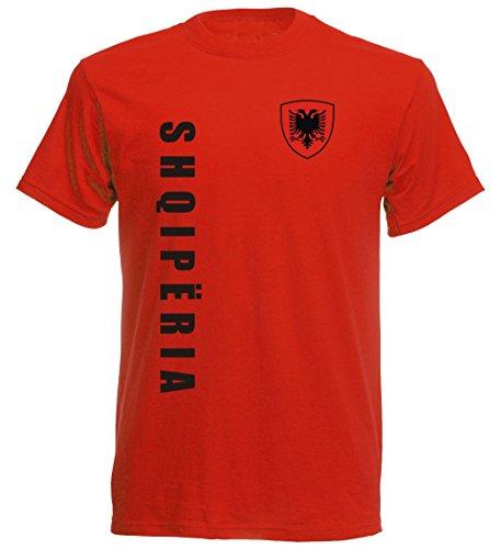 Albanien Kinder T-Shirt - TS-10 - EM 2016 - rot - Fussball Trikot (140)