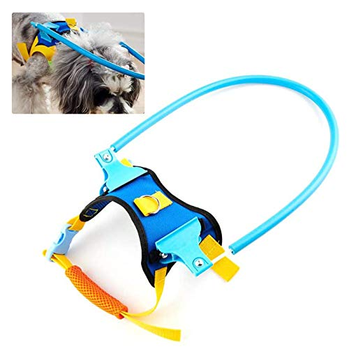 Haploon Blind Dog Harness Guiding Device, Pet Safe Halo Prevent Collision & Build Confidence Blind Dog Accessories (S)