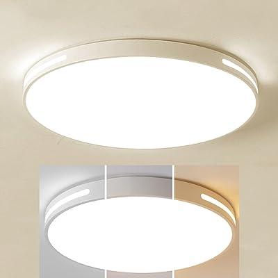 XCUGK Plafonnier LED Lampes 24W Rond Plafonnier Moderne Applicable à la Salle de Bain la Chambre la Cuisine Le Salon Le Balcon et Le Couloir Dimmable 3000K / 4000K / 6000K 40cm