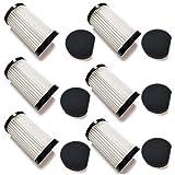 Doremi Juego de 6 filtros + 6 esponjas para Moosoo D600 y BAriete Handy Force 2761, 12 accesorios para Moosoo D600
