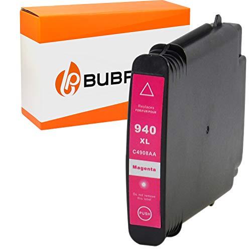 Bubprint Druckerpatrone kompatibel fur HP 940XL 940 XL C4908AE fur OfficeJet Pro 8000 Enterprise Wireless 8500 Premier 8500A Plus Premium Magenta