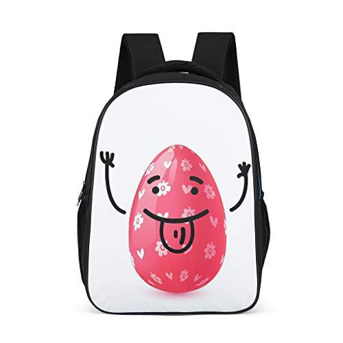 O2ECH-8 Daypacks Easter Rabbit Small Daypack, Wander Rugzakken Kinder- Fashion Rugzak Meisjes Laptop Rugzak Vintage