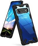 Ringke Coque Compatible avec Galaxy S10 Plus (6.4'), [Fusion-X] Antichoc Transparente Protection [Militaire Défense Testée] Résistant aux Rayures PC Solide Rigide TPU Bumper - Black