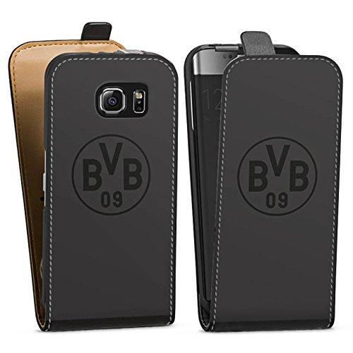 DeinDesign Tasche kompatibel mit Samsung Galaxy S6 Flip Case Hülle Borussia Dortmund Logo BVB