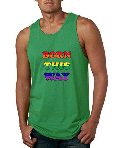 Born This Way Pride Month Parade Gay LGBT Lesbian Funny | Mens LGBT Pride Graphic Tank Top, Kelly, 2XL