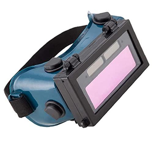 Gafas de soldadura Atenuación automática Aterry Powered LCD Soldador de ojos Equipo de gafas