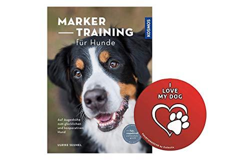 Collectix Marker-Training für Hunde: Auf Augenhöhe zum glücklichen und kooperativen Hund (Taschenbuch) + Hunde Sticker by