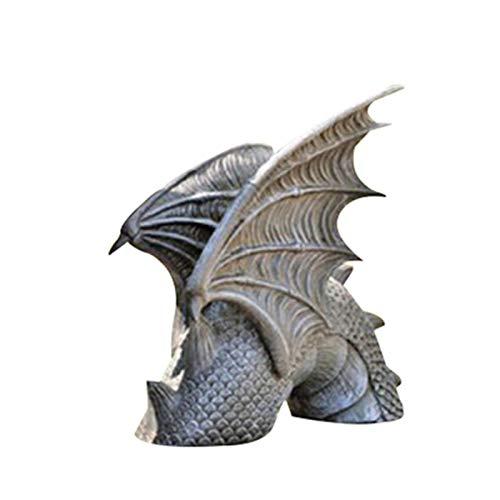 Vtops Dragon of Falkenberg Castle Moat Lawn Garden Statue, Large Dragon Gothic Garden Decor Statue Resin Ornament for Outdoor Decoration