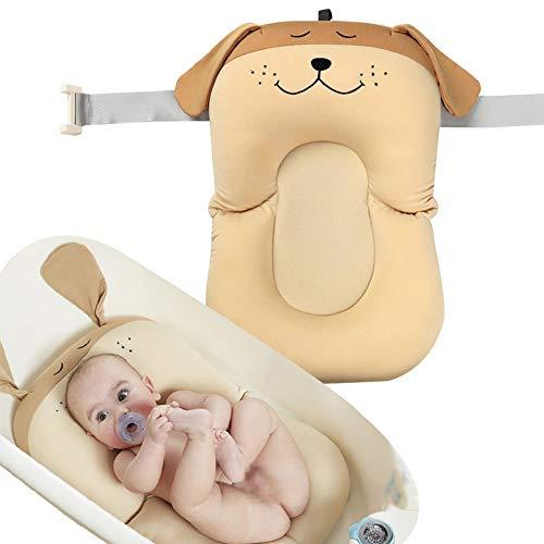 Edelehu Babybad Kissen Neugeborenen Sitz 0-12 Monat Anti-Rutsch-Kissen Sitz Verstellbare Dicken Bade-Wiege Ringe Schwimmende Weiche Kissen Liege