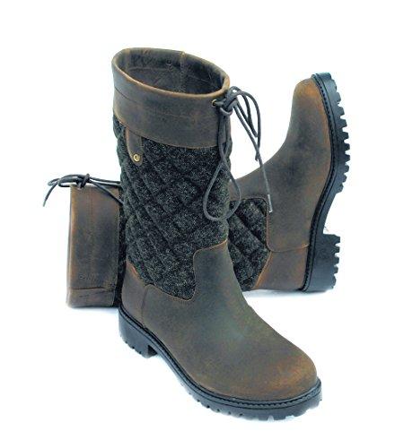 Rhinegold Elite Georgia Tweed Country Boot-4-Brown, Botas de Campo 0, Brown, Size 4 (EU37)