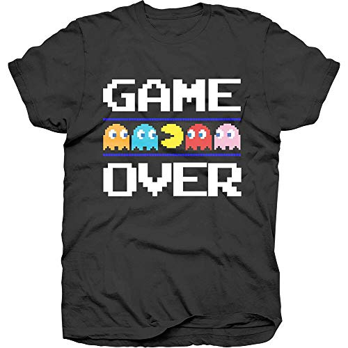 Pac-Man spel over klassieke officiële Pacman Namco Arcade spel zwarte heren T-Shirt