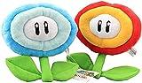 Nobrand 2 PCS/Set Super Mario Bros. Fire Flower & Ice Flower 7''(17cm) Figures Birthday Christmas New Year Gift