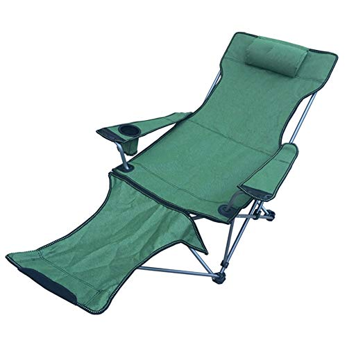 Lefran Komfortabel Liegestuhl Mit Getränkehalter,Tragbarer Liegestuhl Stuhl Für Outdoor-aktivitäten,Klappbar Camping Stuhl Mit Fußstütze C