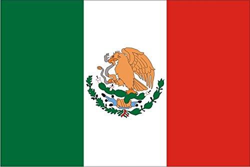 Autoaufkleber / Aufkleber Fahne A-LS113G Mexico - Mexiko 50 cm farbig / bunt - glatt - INDIGOS UG