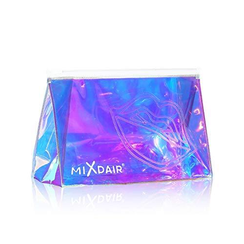 BOBORA Holographische Make-up Tasche klar Kosmetiktasche Veranstalter große Kapazität schillernden Make-up Beutel transparent Kultur Hologramm Kupplung handliche Make-up Beutel für Frauen