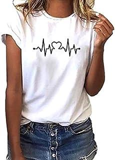 72f63bb5fc VICGREY ❤ Donna Maniche Corte,Divertenti Vintage Tumblr Magliette Donna  Manica Corte estive Ragazza t
