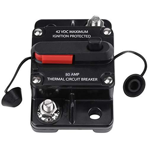 Protección contra sobretensión Disyuntor de CC Disyuntor de audio para automóvil Disyuntor de audio monopolar Disyuntor en línea para audio estéreo de automóvil(80A)