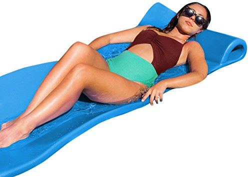 "Texas Recreation Sunray Swimming Foam Pool Floating Mattress, Marina Blue, 1.25"" Thick"