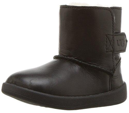 UGG Kids Unisex Keelan Leather (Infant/Toddler) Black X-Small M M