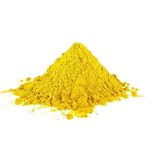 @tec Eisenoxid Pigmentpulver für Beton, Oxidfarbe - 1kg Farbpigmente Trockenfarbe für Zemenz, Gips, Putz, Epoxidharz - Farbe: gelb