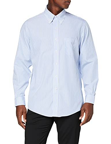 Brooks Brothers Camicia Milano Manica Lunga Chemise Business, Turquoise (Light/Pastel Blue 455), X-Large (Taille Fabricant: 17H 35) Homme