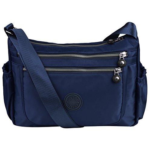 Vbiger Crossbody Bag Shoulder Bag for Women Casual Waterproof Messenger Handbag for Shopping Travel Party (Blue)