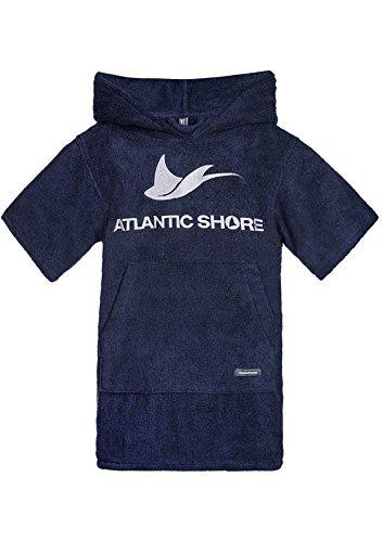 Atlantic Shore | Surf Poncho ➤ Bademantel/Umziehhilfe aus hochwertiger Baumwolle ➤ für Kids/Kinder ➤ Navy Blue/Dunkelblau - Short
