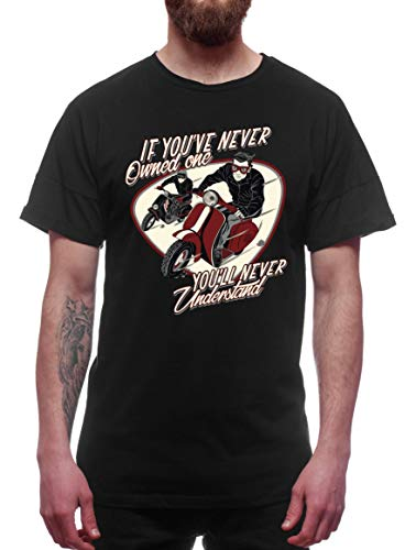 If You Never Owned one/Herren Shirt Retro Style Rockabilly Oldschool (4XL, Schwarz)
