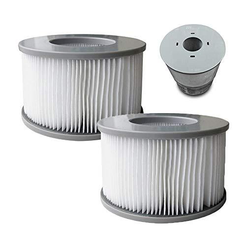 MSpa 2 x Ersatz-Filterkartuschen für Whirlpools, 90 Falten passend Modelle, weiß, Einheitsgröße