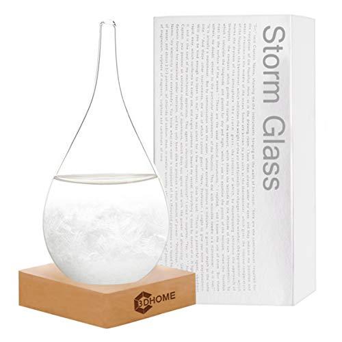 3DHOME Sturmglas Wassertropfen-Art Wettervorhersage kreative Vorhersage nordischer Stil dekorative Glasflasche – S