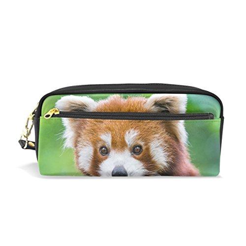 ISAOA Federmäppchen mit rotem Panda-Motiv, großes Fassungsvermögen, langlebig, Make-up-Tasche, Stifttasche für Jungen, Mädchen, Schulstudenten, tolles Geschenk für alle...