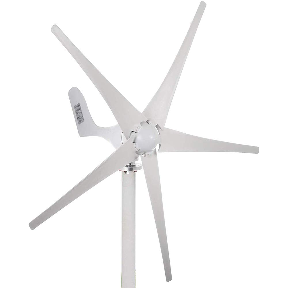 Q&N Generador de turbina de Viento con el Controlador y 5 Hojas para Sistema híbrido del Viento Solar turbina de Viento para Marine RV Casas de energía industrial24v,600W: Amazon.es: Hogar