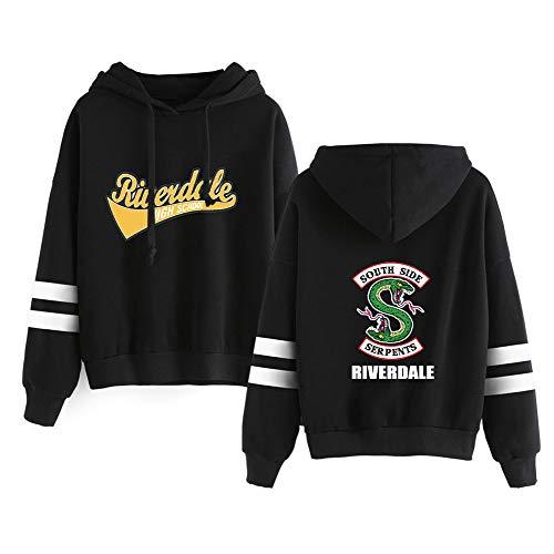 Unisex Riverdale Estampados más Terciopelo Hoodie Sudaderas Fashion Cómodo Hoodie Sueter para Hombre y Mujer