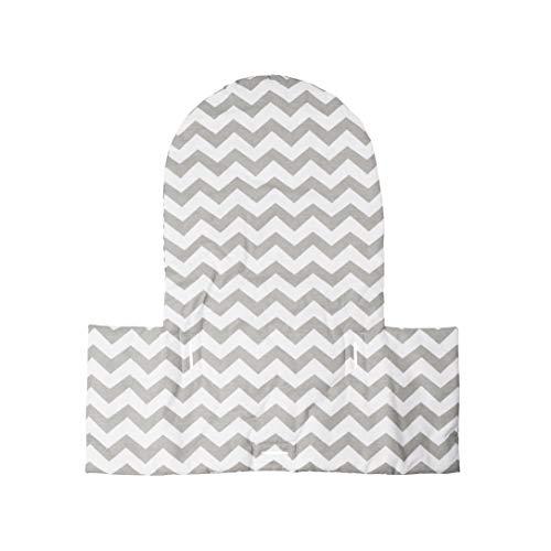 Puckdaddy Sitzkissen Till, Chevron grau passend für IKEA Hochstuhl Antilop