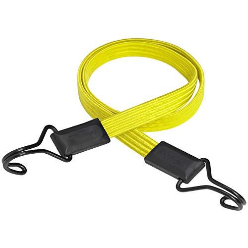 Master Lock 3226EURDAT Flaches Gummi-Spannseil mit Haken [100 cm langes Spannseil] [Doppelter Invershaken] - Ideal zum Transportieren, Verpacken und Sichern von Lasten