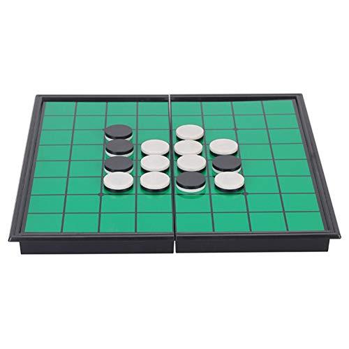Jorzer Magnetische Tragbare Falten Othello Spiel Reversi Othello Strategie-brettspiel, Grün