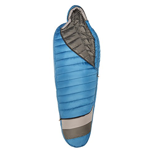 Product Image 1: Kelty Tuck 40 Degree Thermapro Ultra LH Sleeping Bag, Lyons Blue/Smoke, Long