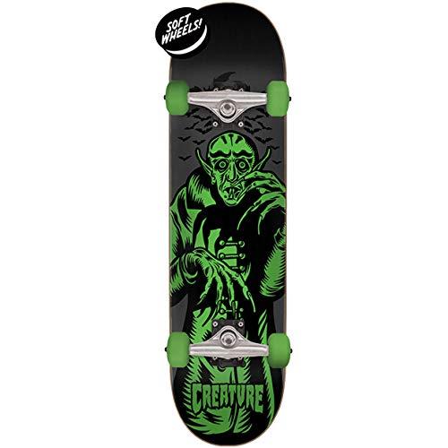 CREATURES Skateboard Complete Vampire, Größe:7.25, Farben:Black-Green