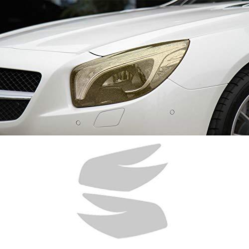 Piaobaige 2 Stück Auto Scheinwerferfolie Transparent Schwarz TPU Aufkleber Für Mercedes Benz SL Klasse R231 2013 2016 AMG