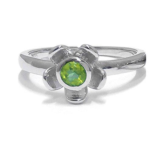 El joyero de anillo de no me olvides de florista & # 10047; & # 10047; Verde Perdo & # 10047; Plata de Ley