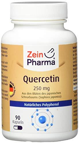 ZeinPharma Quercetin 250 mg 90 Kapseln (3 Monate Vorrat) Glutenfrei, vegan, koscher & halal Hergestellt in Deutschland, 33 g