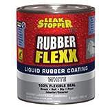 Leak Stopper – 1 Quart White Rubber Flexx Coating Waterproof Roof Sealant For Sealing Up Cracks Fast