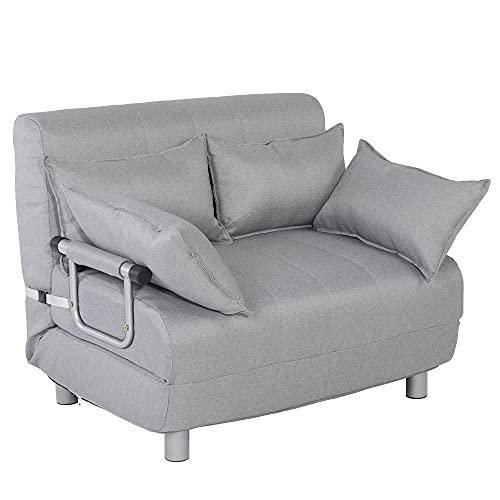 Poltrona Divano letto elegante per soggiorno, da 1 piazza o da 1 piazza e 1/2, disponibile in vari colori (Grigio, 1 piazza e 1/2)