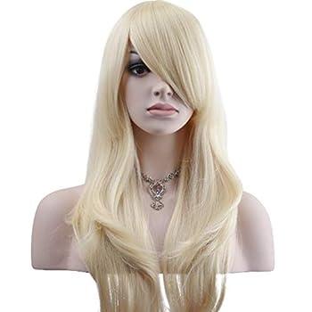 YOPO 28  Wig Long Big Wavy Hair Women Cosplay Party Costume Wig Light Blonde