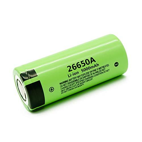 CNMMGL Batería De Iones De Litio De 3.7v 5000mah 26650a, BateríAs Recargables para La Linterna Llevada 6pcs