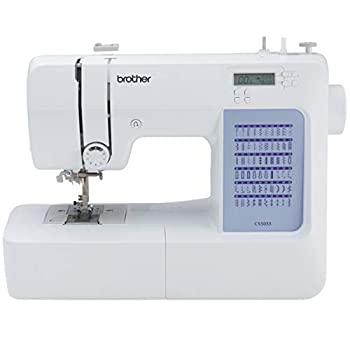 Brother CS5055 Computerized Sewing Machine 60 Built-in Stitches LCD Display 7 Included Feet White