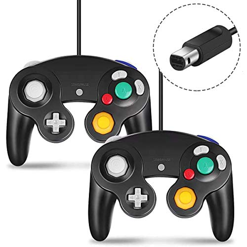 Cipon GC Controller, Wired Controllers Classic Gamepad Joystick Compatible with Gamecube Controller Nintendo and Wii Console Game Remote Black