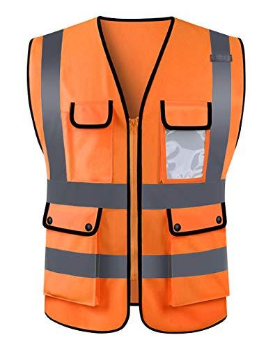 Panegy Gilet Alta visibilità Giubbotto di Sicurezza Catarifrangente Unisex Auto Gilet Sicurezza con Bande Catarifrangenti