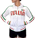Swift Pigeon Apparel Italia Italian Pride Striped Flag Juniors Track Jacket(Small White)